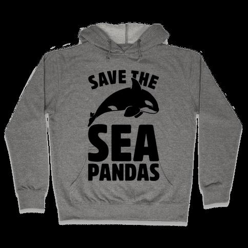 Save The Sea Pandas (cmyk) Hooded Sweatshirt