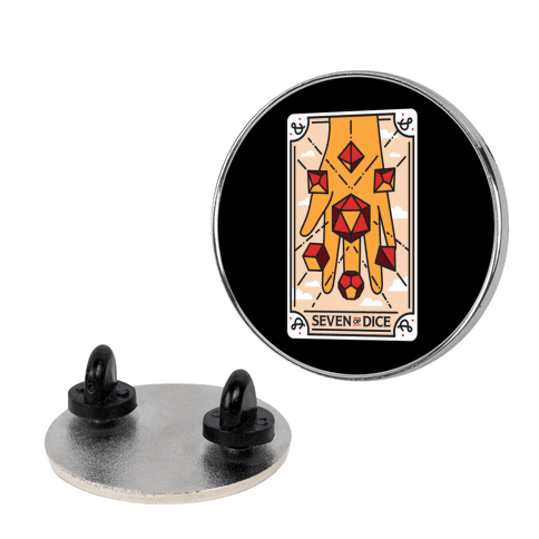 Seven of Dice - D&D Tarot Pin