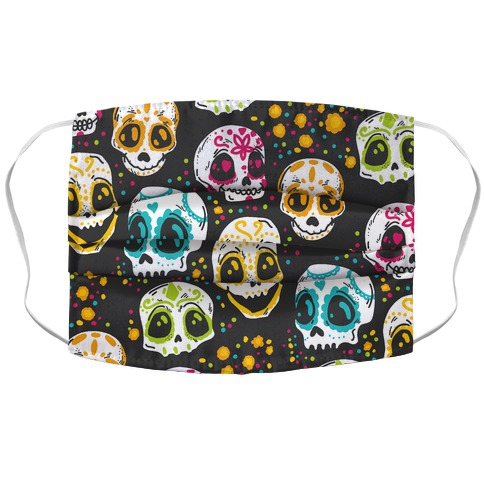 Day Of The Dead Skulls Accordion Face Mask