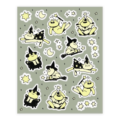 Magic Frogs Sticker and Decal Sheet