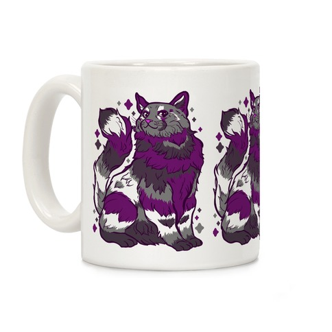 Asexual Pride Cat Coffee Mug