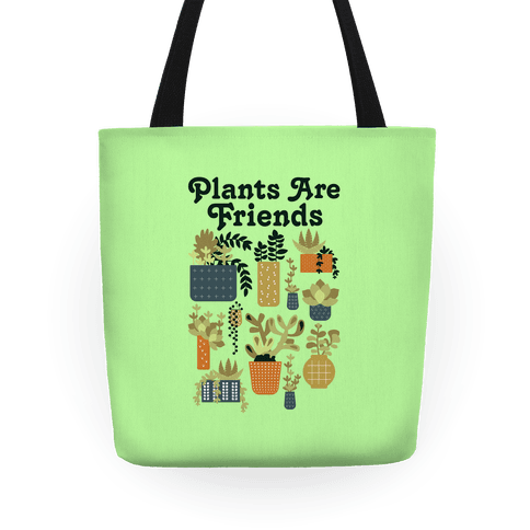Plants Are Friends Retro Tote