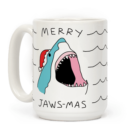 Merry Jaws-mas Christmas Coffee Mug