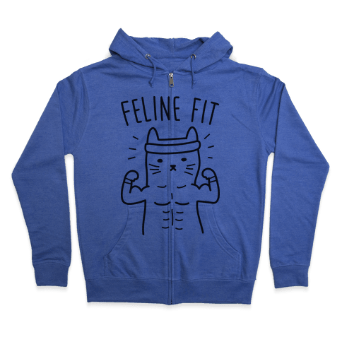 Feline Fit Zip Hoodie