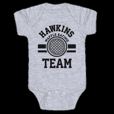 Hawkins Waffle Eating Team Baby Onesy