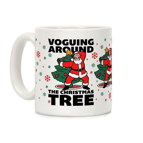 Voguing Around The Christmas Tree Coffee Mug