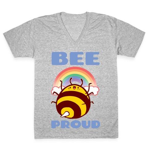 Bee Proud V-Neck Tee Shirt
