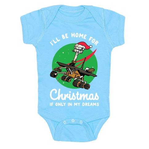 I'll Be Home For Christmas Oppy Baby Onesy