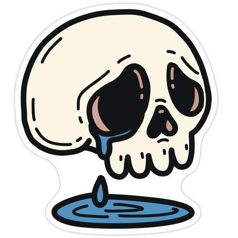 Sensitive Skull Die Cut Sticker