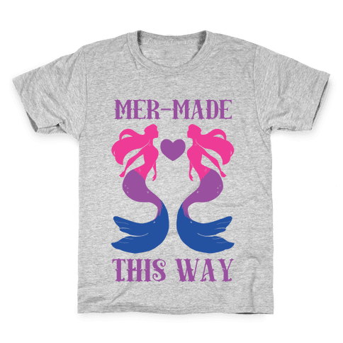 Mer-Made This Way - Bi Kids T-Shirt