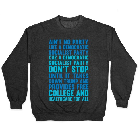 Ain't No Party Like A Democratic Socialist Party Pullover