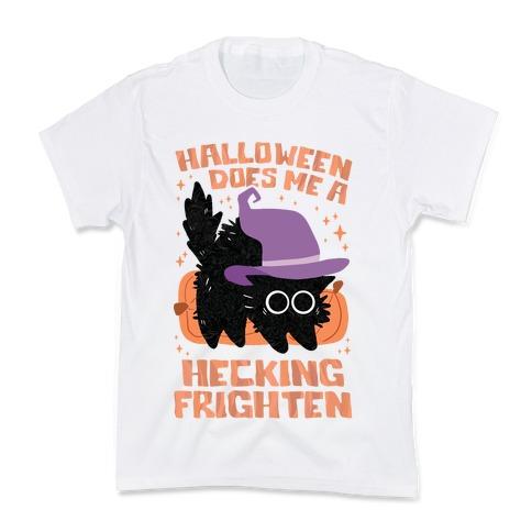 Halloween Does Me A Hecking Frighten Kids T-Shirt