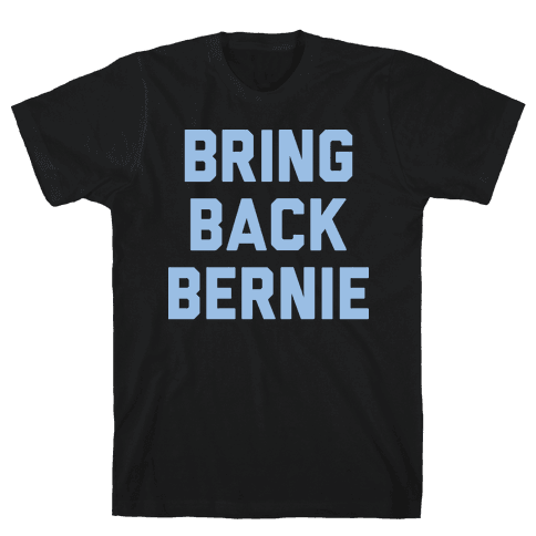 Bring Back Bernie (White) Mens T-Shirt