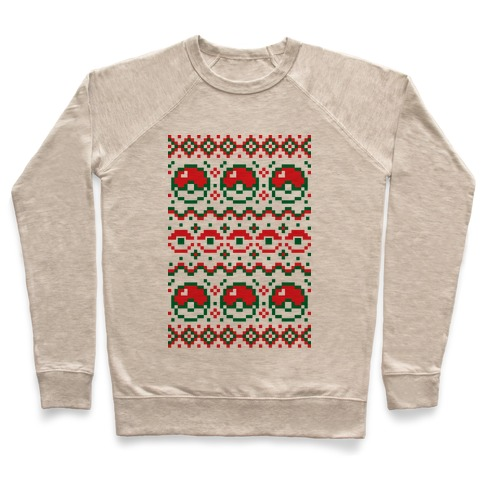 Pokball Ugly Christmas Sweater Pattern Pullover