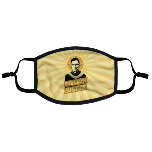 RBG: Our Lady Of Justice Flat Face Mask