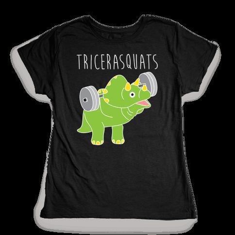TriceraSQUATS Womens T-Shirt