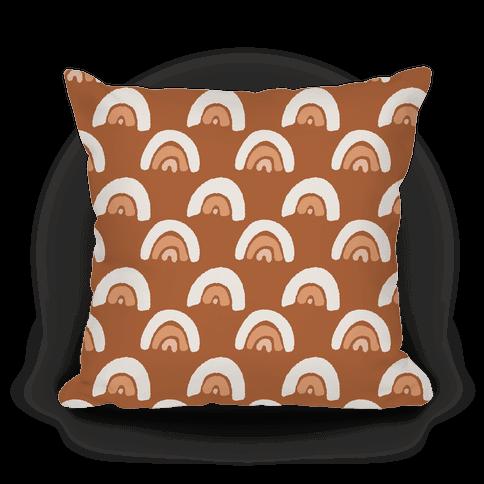 Rainbow Boho Pattern Terra Cotta Pillow