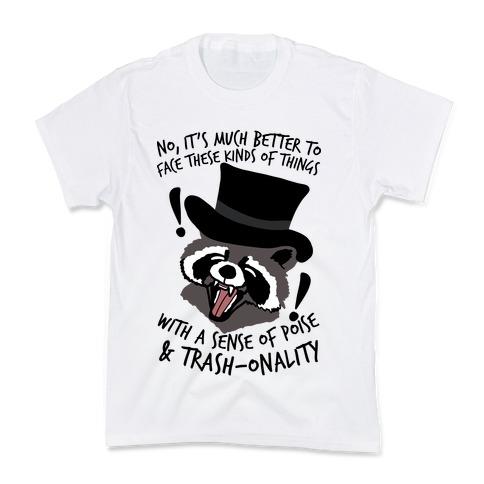 Trash-onality Emo Raccoon Kids T-Shirt