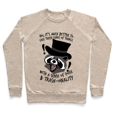 Trash-onality Emo Raccoon Pullover