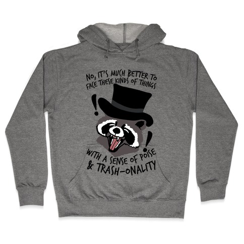 Trash-onality Emo Raccoon Hooded Sweatshirt