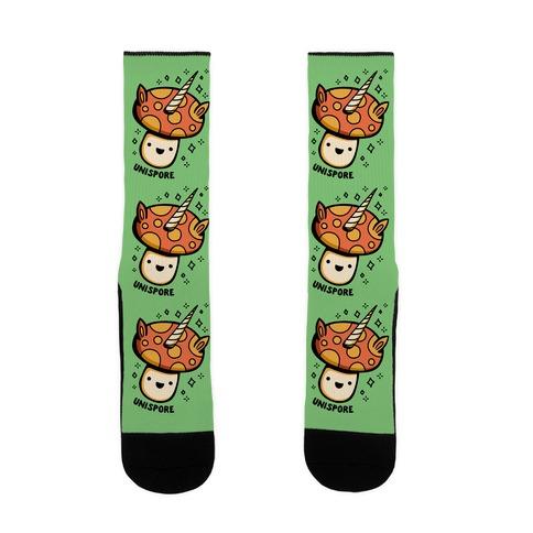 Unispore Unicorn Mushroom Sock