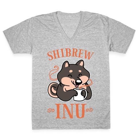 Shibrew Inu V-Neck Tee Shirt