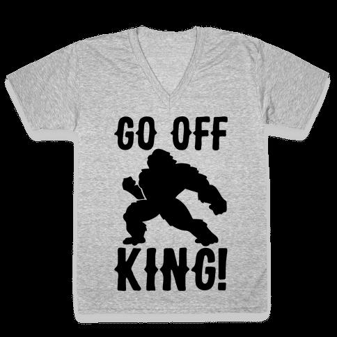 Go Off King Parody V-Neck Tee Shirt