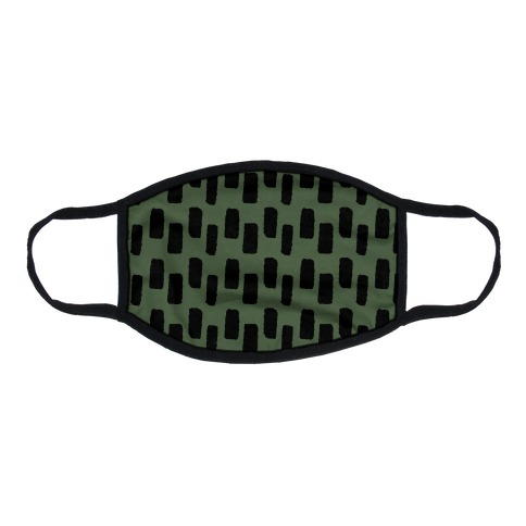 Organic Rectangle Pattern Green Flat Face Mask