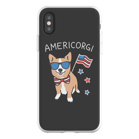 AmeriCorgi Patriotic Corgi Phone Flexi-Case