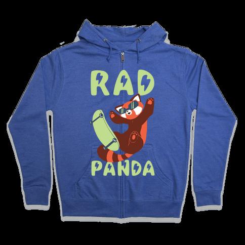 Rad Panda - Red Panda Zip Hoodie