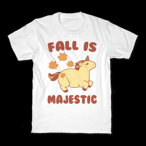 Fall is Majestic - Unicorn Kids T-Shirt