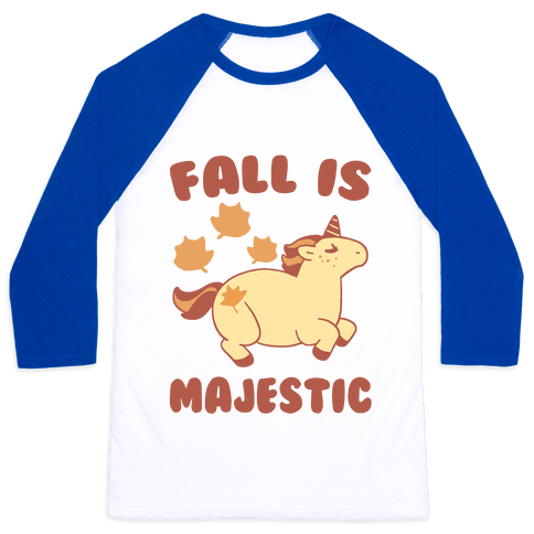 Fall is Majestic - Unicorn Baseball Tee