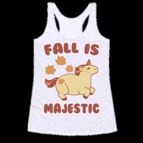 Fall is Majestic - Unicorn Racerback Tank Top