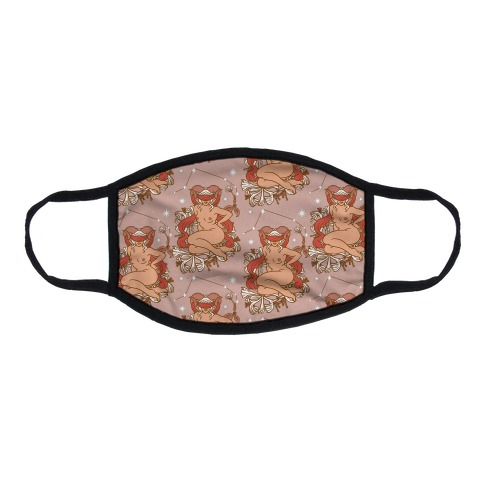 Zodiac Pinup Aries Flat Face Mask