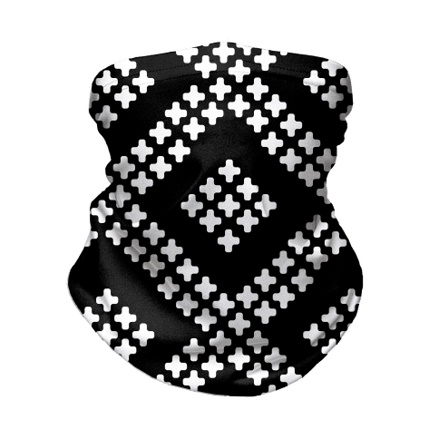 Little Cross Pattern Black Neck Gaiter
