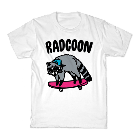 Radcoon Rad Raccoon Parody Kids T-Shirt