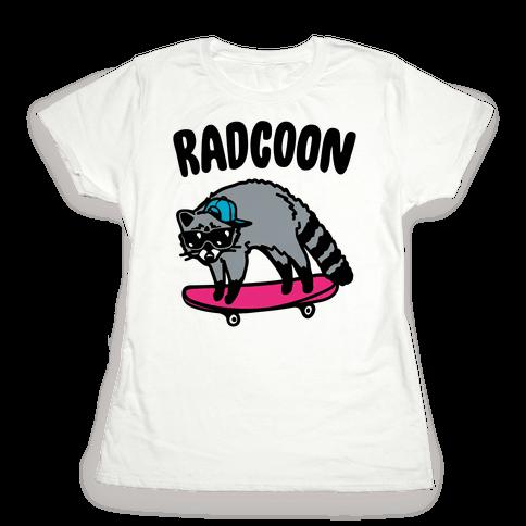 Radcoon Rad Raccoon Parody Womens T-Shirt