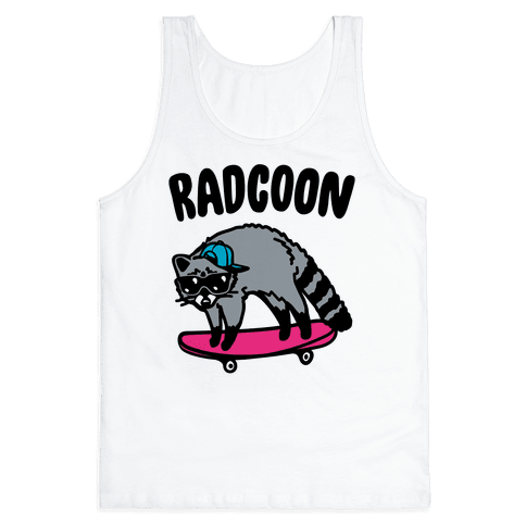 Radcoon Rad Raccoon Parody Tank Top