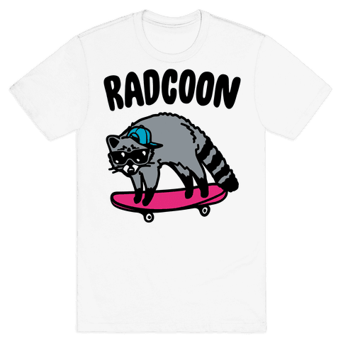 Radcoon Rad Raccoon Parody Mens T-Shirt