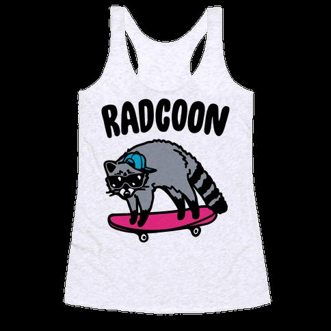 Radcoon Rad Raccoon Parody Racerback Tank Top
