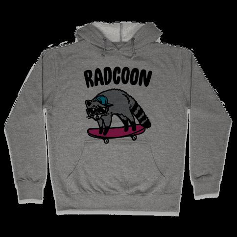Radcoon Rad Raccoon Parody Hooded Sweatshirt