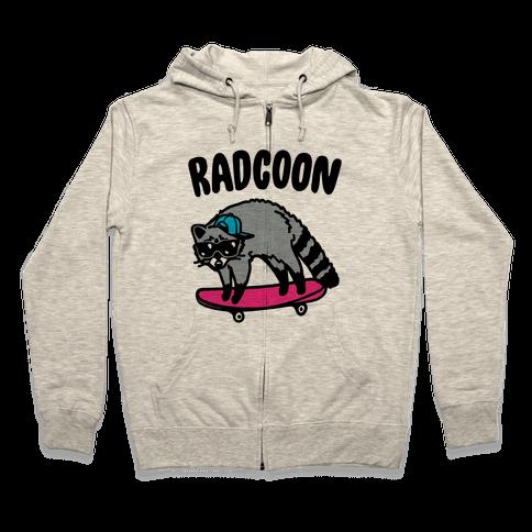 Radcoon Rad Raccoon Parody Zip Hoodie