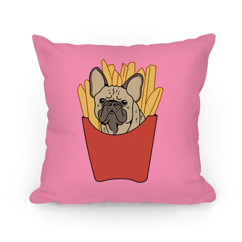 French Fry French Bulldog Pillow
