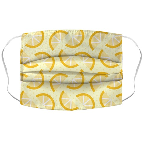 Lemon Slices Pattern Accordion Face Mask