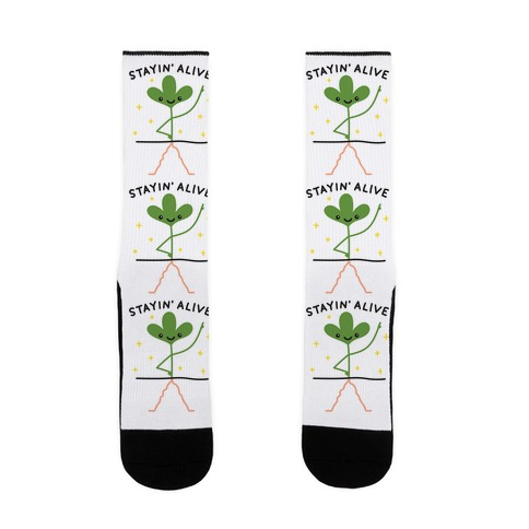 Stayin' Alive Plant Sock