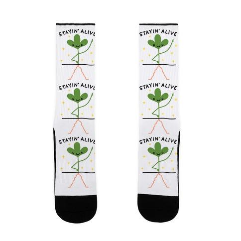Stayin' Alive Plant Sock