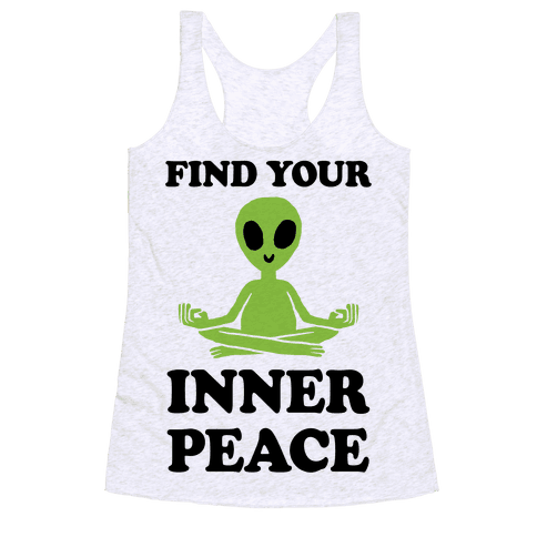 Find Your Inner Peace Racerback Tank Top