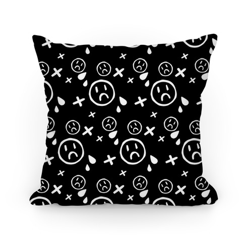 Emo Pattern Black Pillow