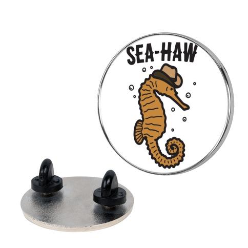 Sea Haw Seahorse Cowboy Pin