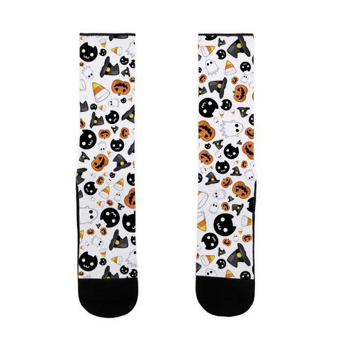Spoopy Halloween Pattern Sock